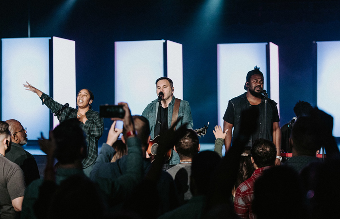 Matt Redman and team leading acoustic at SALT Conference