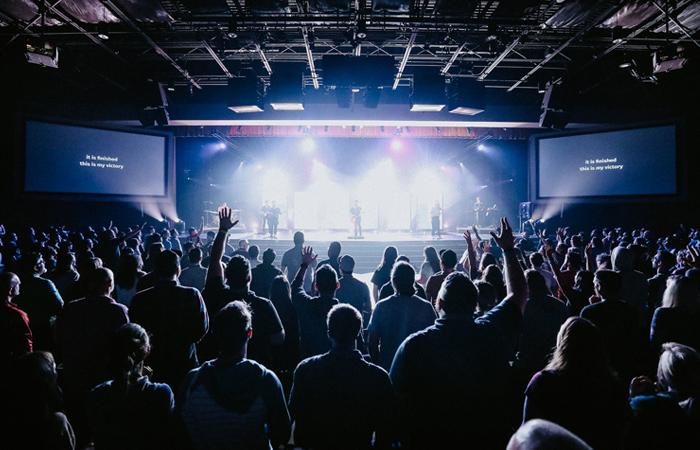 Wide shot of Worship at SALT Conference