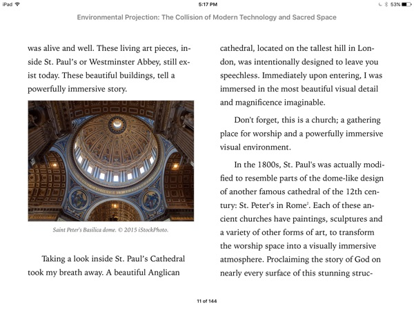 Environmental Projection Book Sample - Chapter with Pictures