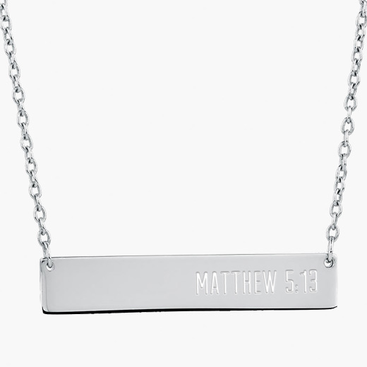 SALT Matthew 5:13 Silver Necklace