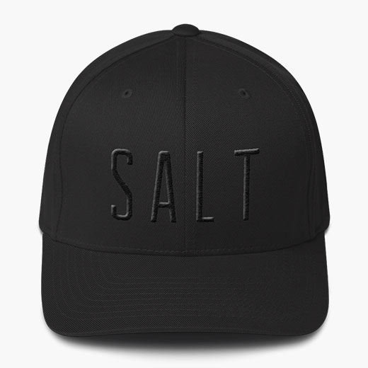SALT Baseball Hat - Black embossed
