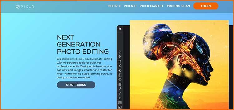 Photoshop Alternative - Pixlr