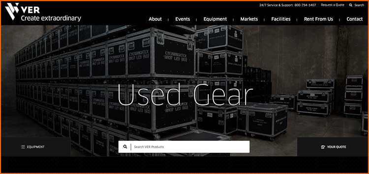 VER used Gear - Used Production equipment websites