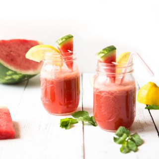 Watermelon Mint Lemonade - the perfect summer cooler