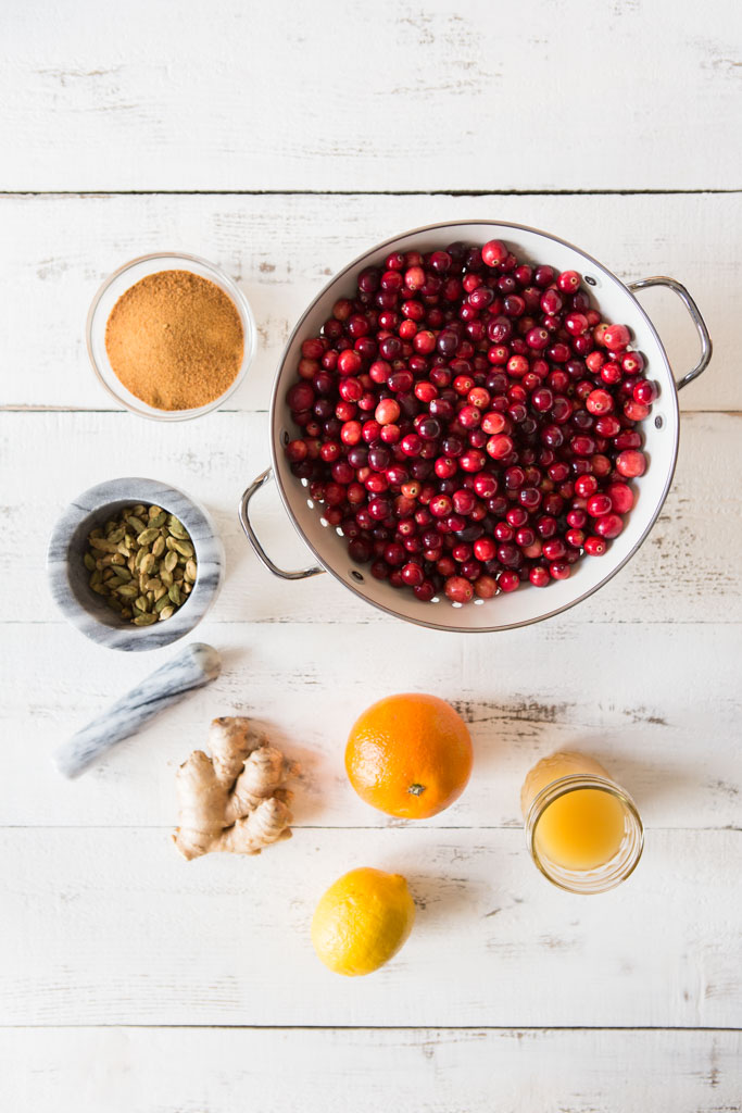 With cardamom, pineapple juice, fresh ginger, orange zest and lemon juice, this is not your traditional cranberry sauce - but it sure is delightful!