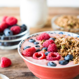 Coconut Yogurt Smoothie Bowls with Grain-Free Granola - the perfect start to your day.