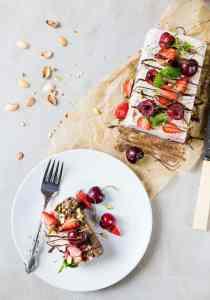 Healthy Chocolate Salted Caramel Ice Cream Cake