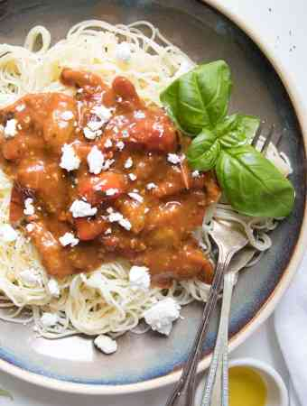5 Ingredient Burst Cherry Tomato Pasta