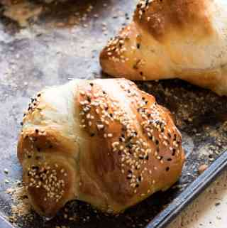 These rosemary seeded bread knots are are simple to make and are perfect for your holiday table or with a hearty soup.