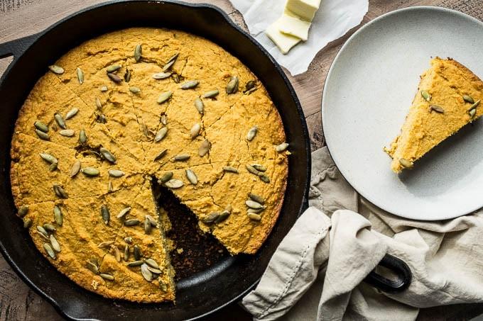 gluten free sweet potato cornbread recipe with a dairy free option