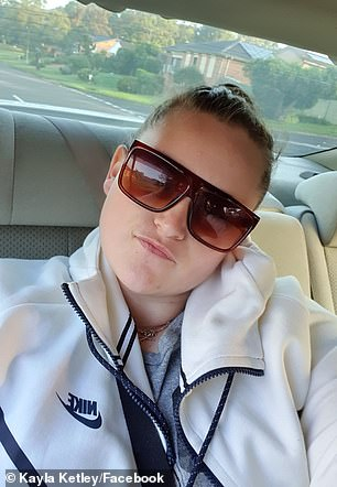 Police allege Henderson helped her friend Kayley Lee Ketley (pictured) carry out a horrific stabbing and kidnapping