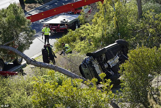 Experts claimed thatevidence in the case, including lack of skid marks on the roadway that would have indicated the driver's attempt to brake, suggests that Woods possibly dozed off
