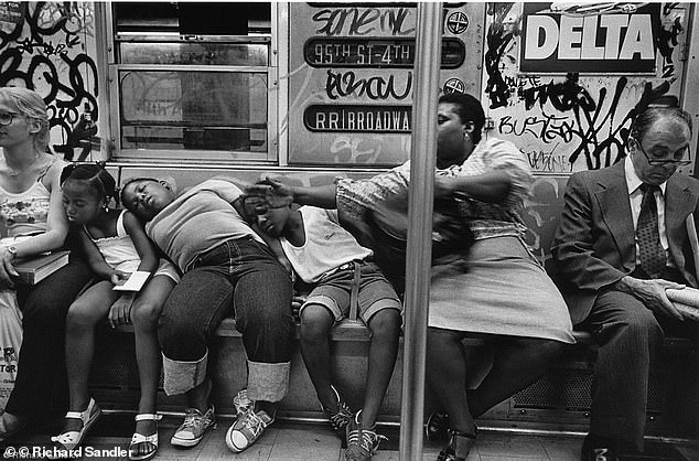 BAD OLD DAYS: In the 1980s everyday New Yorkers including families with children and business people had to brave graffiti-covered trains, which oftentimes were scenes of violence. The recent surge in crime has some worried that New York could descend back to the depths