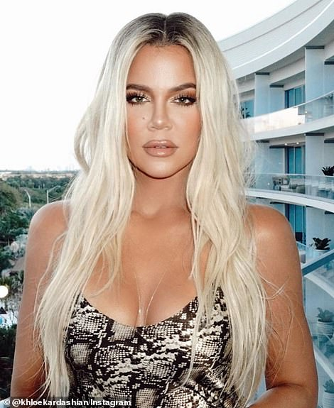 Images shared by Khloe on Instagram differed drastically to professional pictures in October 2019