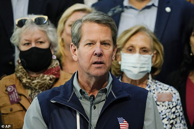 Georgia's Governor Brian Kemp has accused the MLB of having 'caved to fear, political opportunism, and liberal lies' in moving the game out of Atlanta in protest over the voting laws