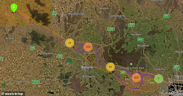 The Ausnet powerline is proposed to spread from Melbourne toBulgana (pictured)