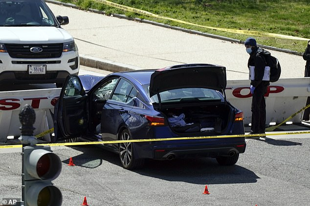 Capitol Police opened fire after Green emerged from his car with a knife and ran at them