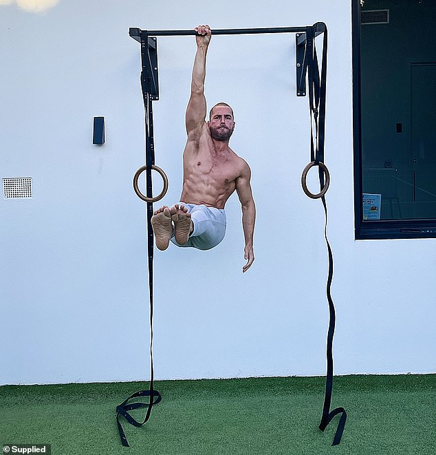Mr Bell started doing aerial gymnastics during the coronavirus pandemic. He credits the exercises with making him more energised at work