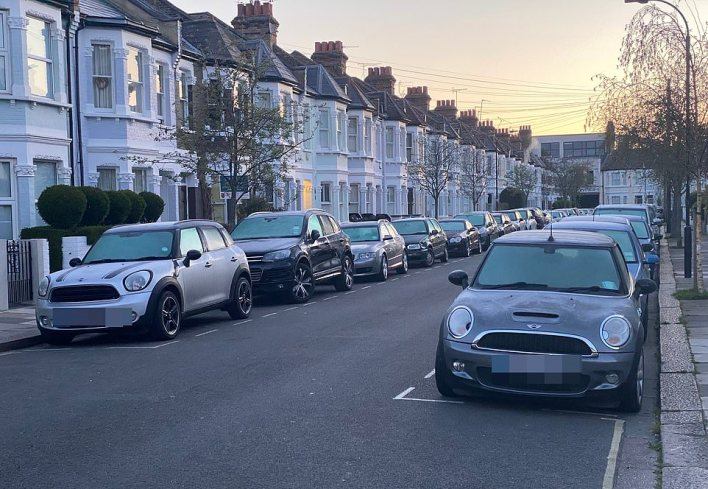 Britain is set for another chilly day today in a jarring contrast to the warm, sunny Easter Weekend. Pictured is a frosty street this morning in Fulham, south-west London