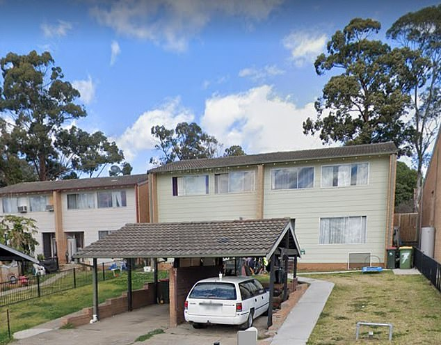 Nisha Phillips was allegedly first stabbed inside this townhouse in Claymore before she was forced into the boot of her own car