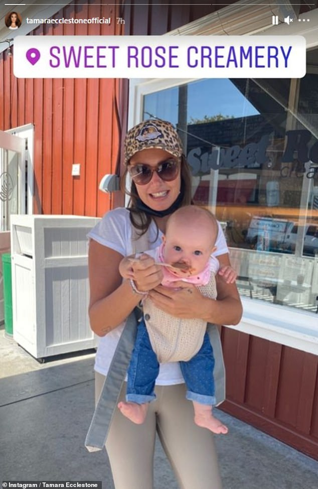 Another country?The heiress recently took to Instagram to share snaps with her husband Jay Rutland and their two daughters, including a trip to an ice cream shop in Santa Monica