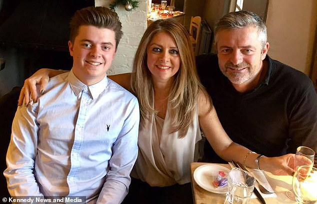 Charlie with his mother Carole and father Lee.Carole, from Borehamwood, Hertfordshire, said: '[Staff] made an assumption and they were wrong. It was so infuriating'