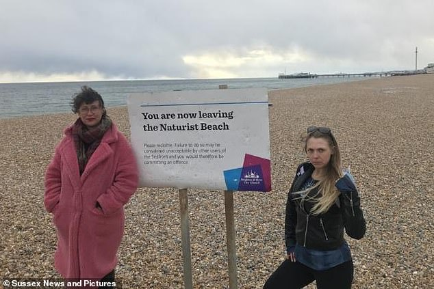 Bella Kirkus, 51, (left) and Eva Wilshere (right) are among the campaigners calling for greater security measures to be put in place on Brighton's nudist beach