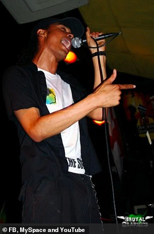 Regé sang and played drums in a punk band in his teenager years