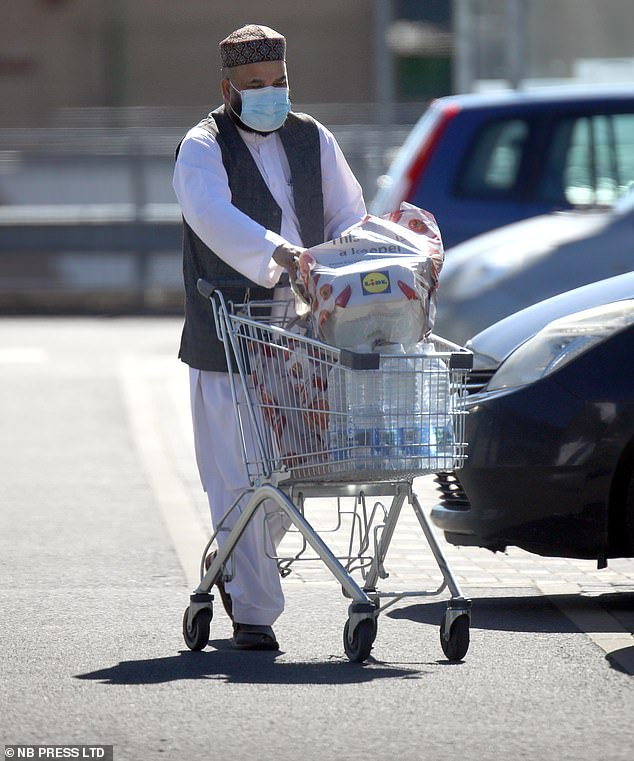 The convicted child trafficker was seen at a local Lidl stocking up on supplies on Monday