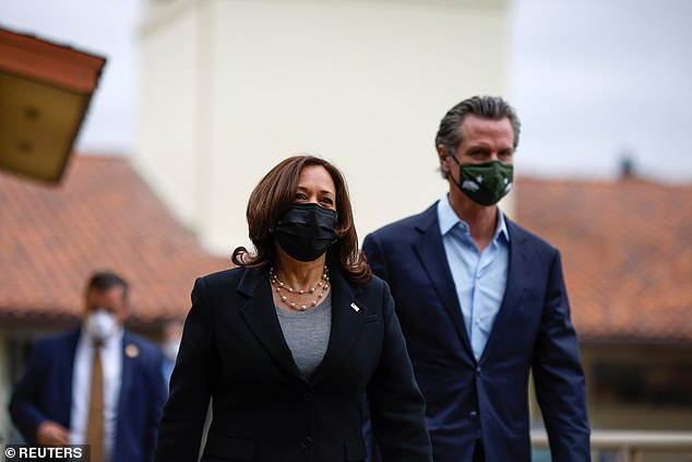She spent Easter weekend at her Brentwood home before meeting with Gavin Newsom on Monday in a show of support to the beleaguered Governor