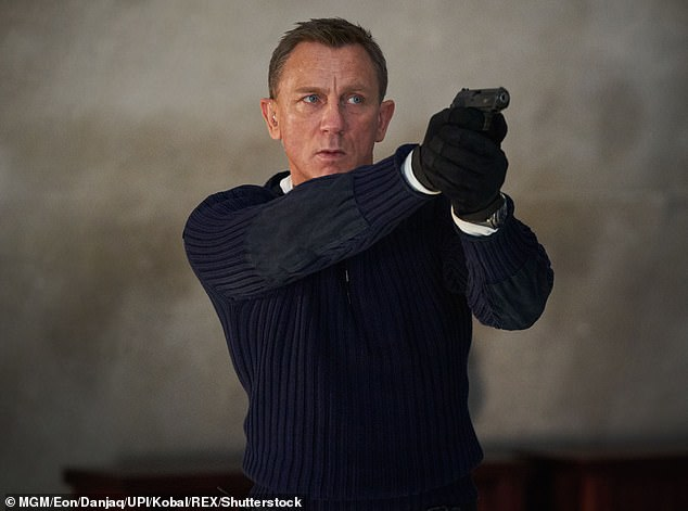 The future now looks bright for Page, who was seen returning to the UK on Tuesday after his odds were slashed to become the new favourite to replace Daniel Craig as James Bond (pictured)