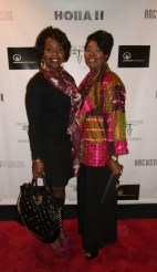 Erika Salter accompanied with her lovely mother, Brenda Engram-Salter on the Holla II red carpet.