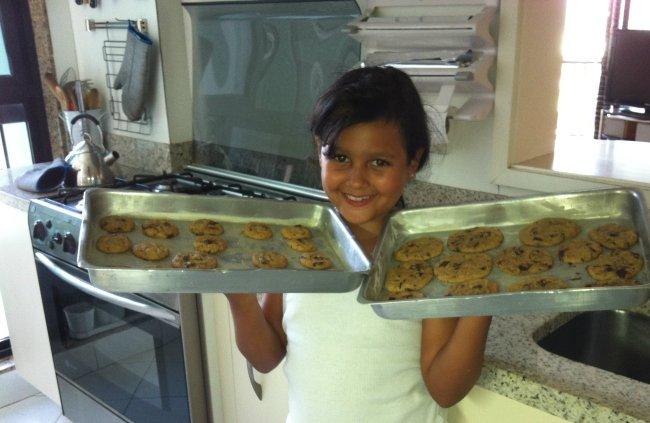 Aula de Cookies para  Amanda…