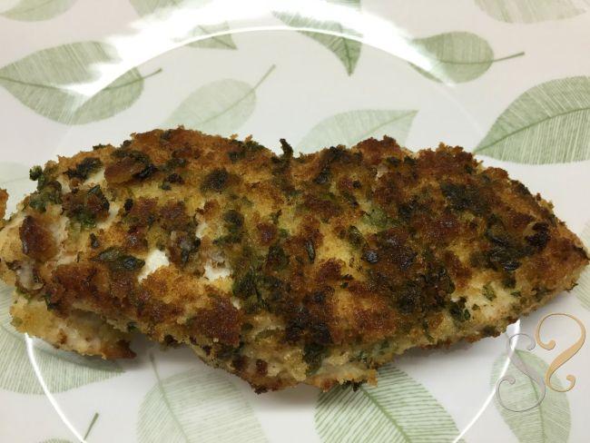 Peito de frango com crosta de ervas…