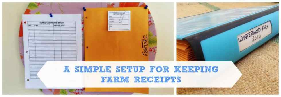 keeping farm receipts