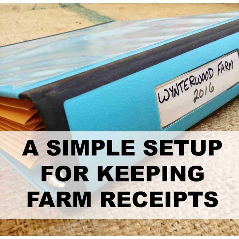 A Simple Setup for Keeping Farm Receipts