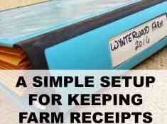 keeping farm receipts for taxes
