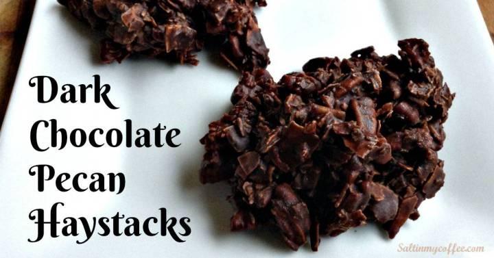 decadent dark chocolate haystacks