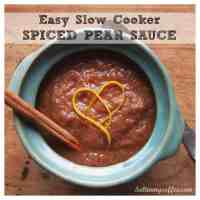 Slow cooker spiced pear sauce