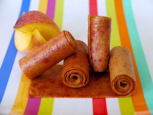 peach fruit leather