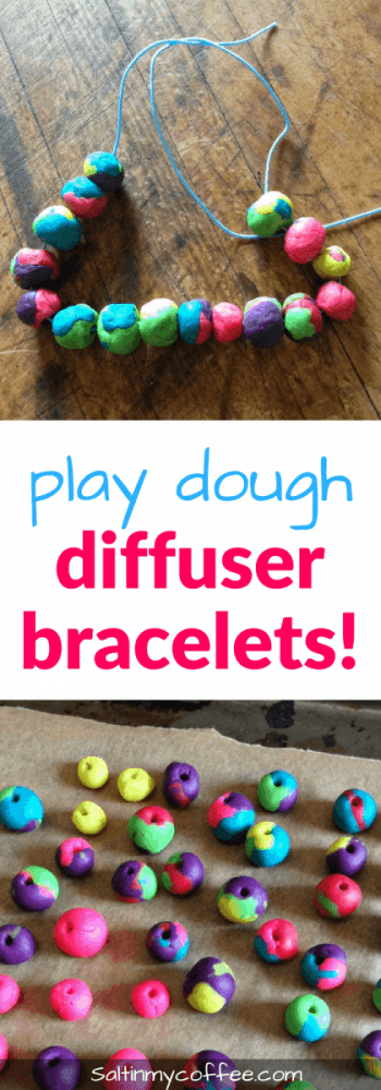 play dough diffuser bracelets