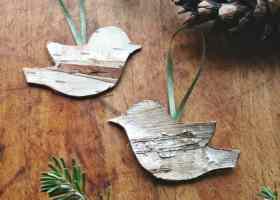 Birch Bird Ornaments