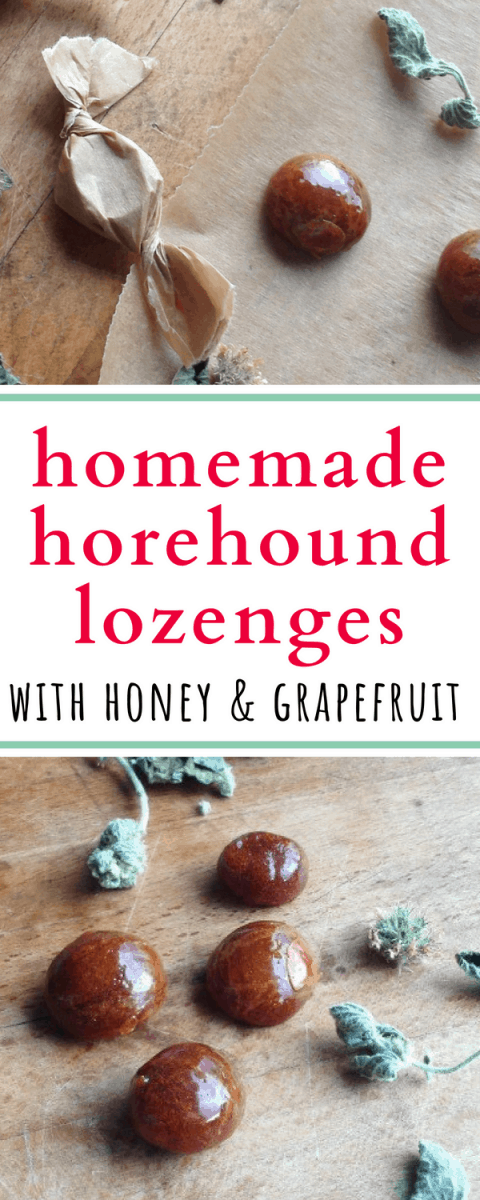 These homemade horehound lozenges are absolutely amazing - and that hint of grapefruit from the essential oil is so refreshing!