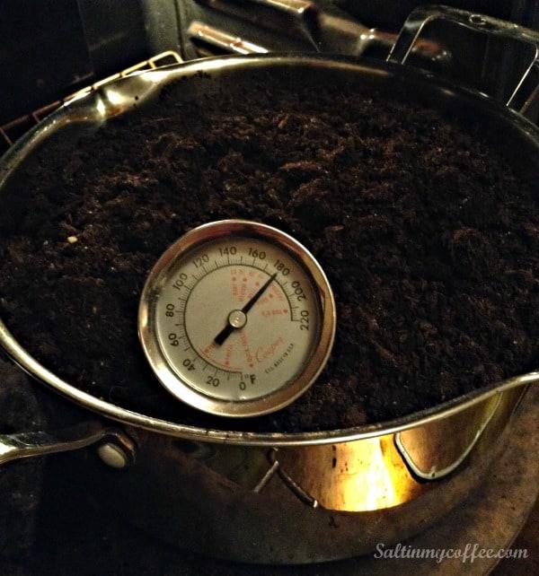 temperature for pasteurizing potting soil