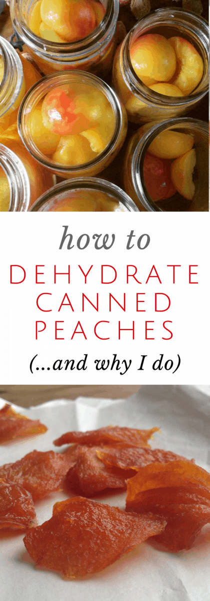 dehydrate canned peaches