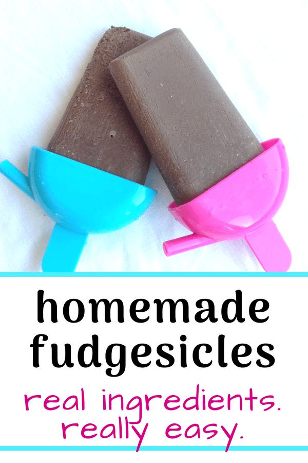Super easy homemade fudgesicle recipe that calls for REAL INGREDIENTS - not a box of pudding mix. Absolute perfection.