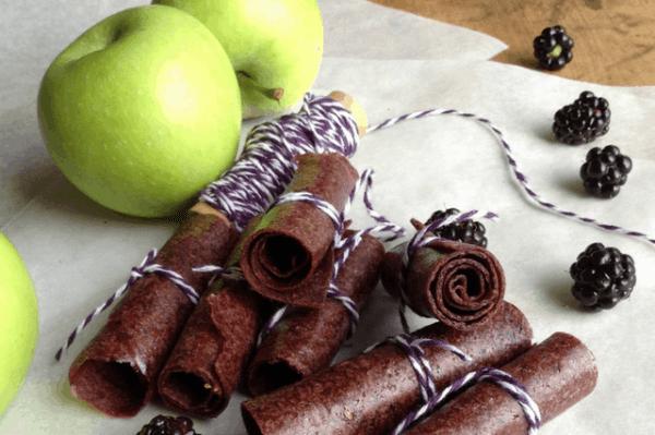 blackberry apple fruit roll ups