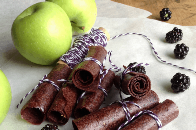 blackberry apple fruit roll ups