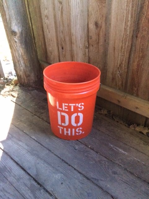 quenching bucket for blacksmithing