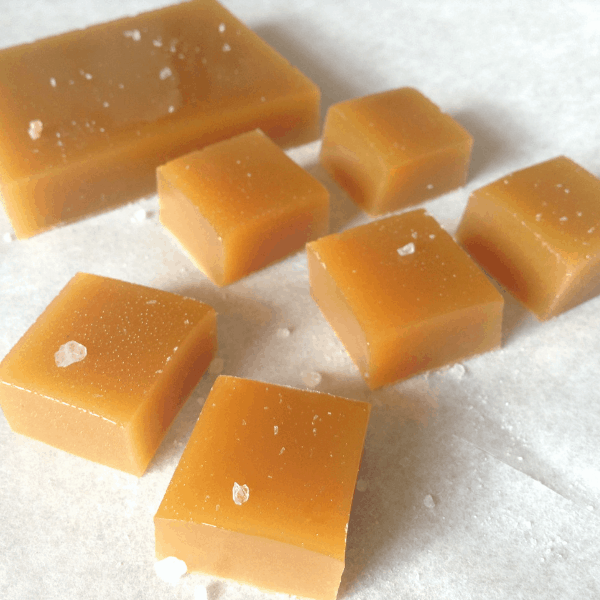 homemade maple honey caramels no dairy no corn syrup